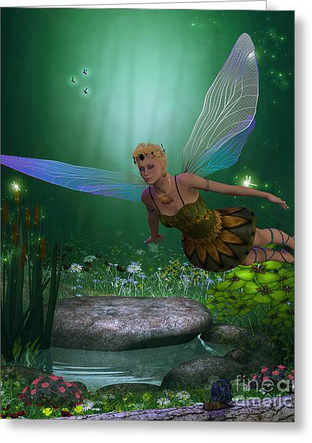 Folktale Greeting Cards - Fairy in Flight Greeting Card by Corey Ford