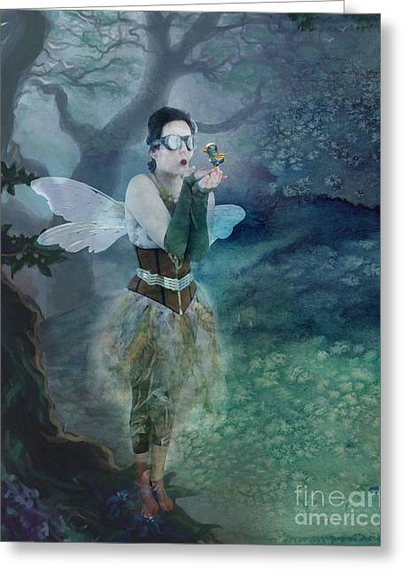 Make Believe Greeting Cards - Fairy in the Woods Greeting Card by Juli Scalzi