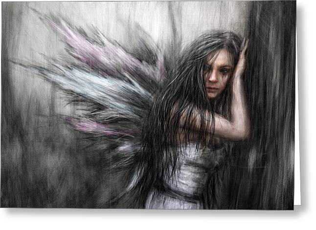 Fairy Painter Greeting Cards - Fairy Greeting Card by Justin Gedak