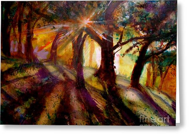 Dappled Light Greeting Cards - Fairy Light Greeting Card by Rita Henderson