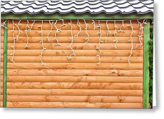 Shed Photographs Greeting Cards - Fairy lights Greeting Card by Tom Gowanlock