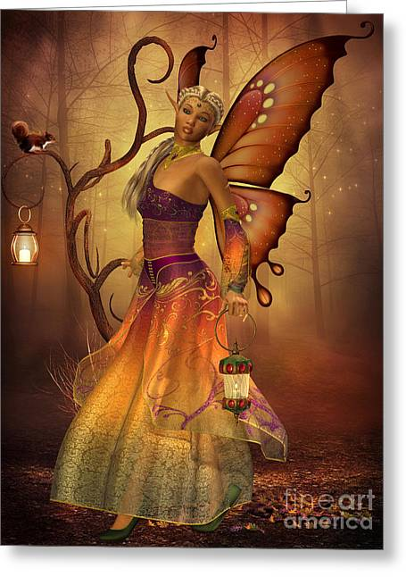 Folktale Greeting Cards - Fairy Lilith Greeting Card by Corey Ford