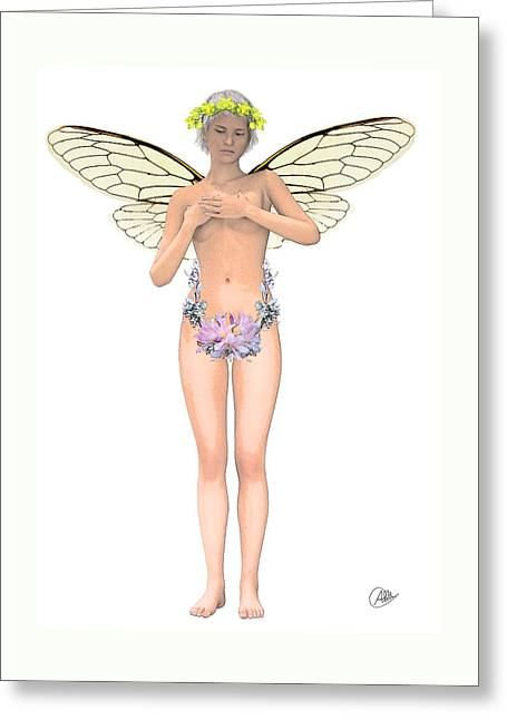 Tinker Bell Modernist Greeting Card by Quim Abella