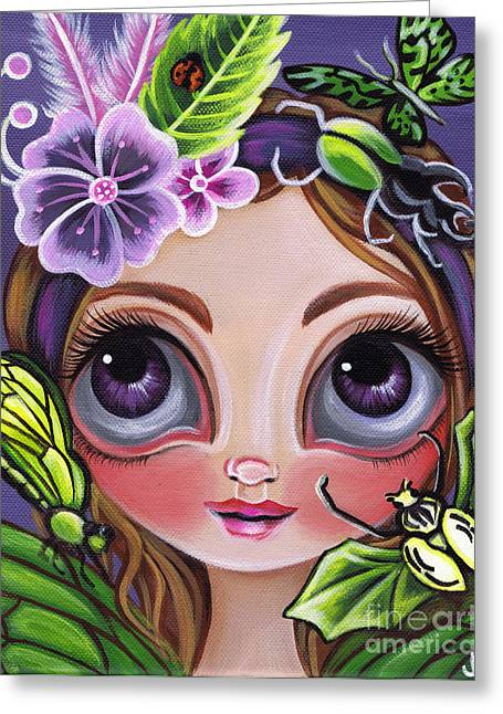 Fairy Of The Insects Greeting Card by Jaz Higgins
