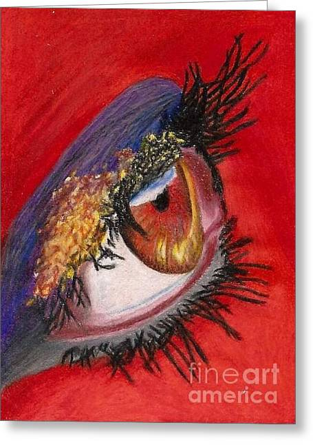 Glowing Drawings Greeting Cards - Fairy of the Volcano Greeting Card by Alexandra Adams