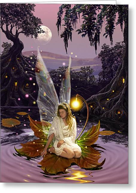 Fantasy Greeting Cards - Fairy Princess Greeting Card by Garry Walton