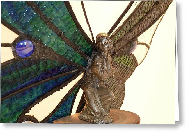 Fantasy Glass Greeting Cards - Fairy Queen Greeting Card by Samantha  Calder