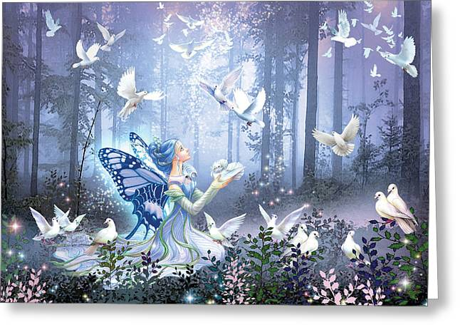 Fairies Greeting Cards - Fairy Queen Greeting Card by Zorina Baldescu