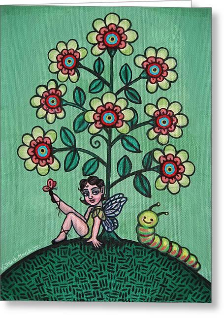 Fairy Series Katrina Greeting Card by Victoria De Almeida