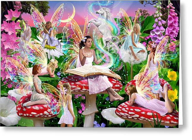 Book Greeting Cards - Fairy Story Greeting Card by Garry Walton
