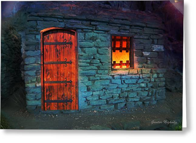Gunter Nezhoda Greeting Cards - Fairy tale cabin Greeting Card by Gunter Nezhoda
