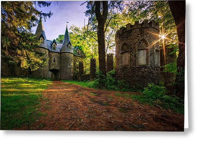 New York Fairy Tale Greeting Cards - Fairy Tale Castle Greeting Card by Everet Regal