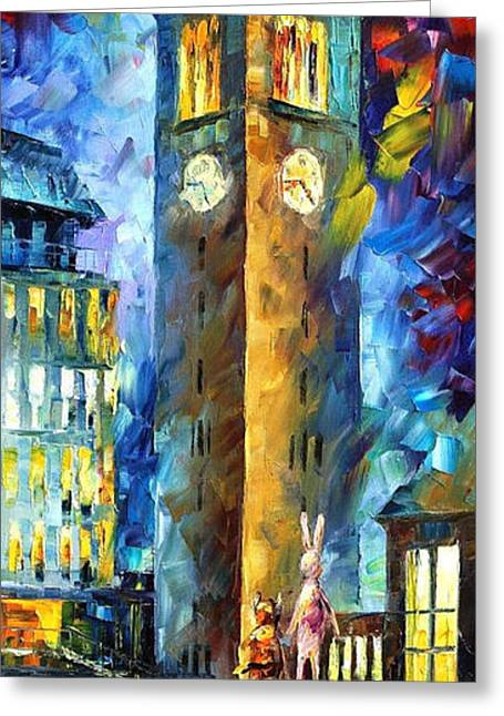 Popular Art Greeting Cards - Fairy Tale - PALETTE KNIFE Oil Painting On Canvas By Leonid Afremov Greeting Card by Leonid Afremov