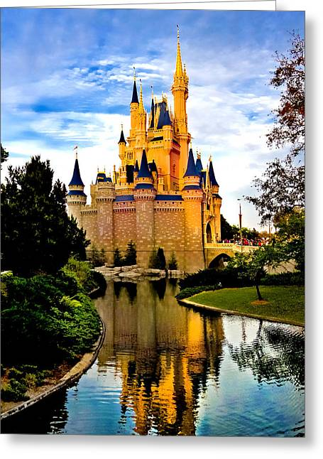 Cinderella Photographs Greeting Cards - Fairy Tale Twilight Greeting Card by Greg Fortier