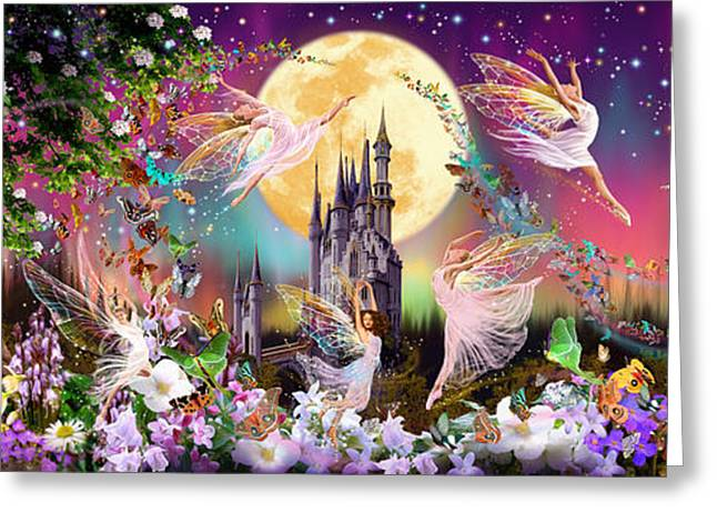 Mystery Door Greeting Cards - Fairy Triptych Greeting Card by Garry Walton
