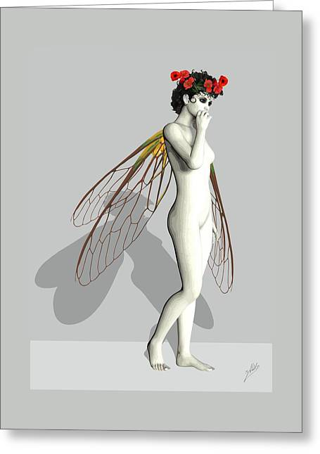 Tinker Bell Greeting Cards - Fairy White  Greeting Card by Joaquin Abella
