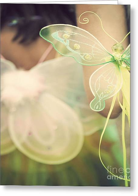Faire Greeting Cards - Fairy Wings Greeting Card by Juli Scalzi