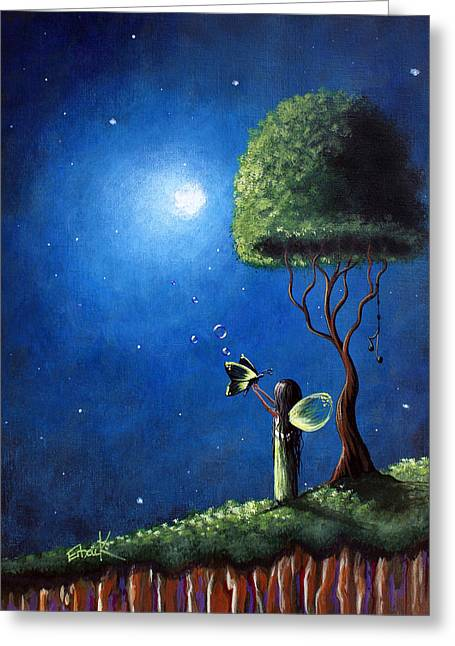 Top Seller Greeting Cards - Fairy Wishes Original Art Painting Greeting Card by Shawna Erback