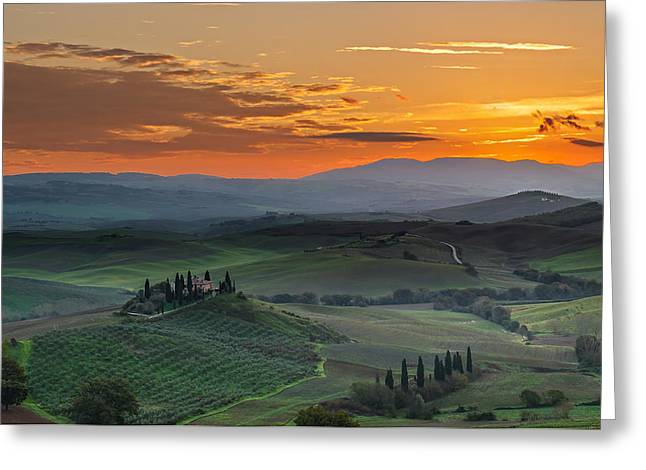 Olive Grove Greeting Cards - Fairyland Sunrise Greeting Card by Alvin Kroon