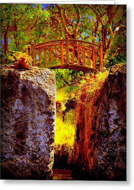 Make Believe Greeting Cards - Fairytale Bridge Greeting Card by Karen Wiles