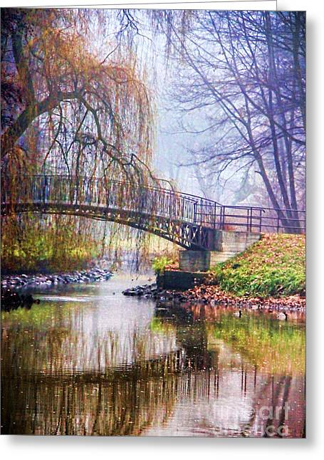 Fall Grass Greeting Cards - Fairytale Bridge Greeting Card by Mariola Bitner