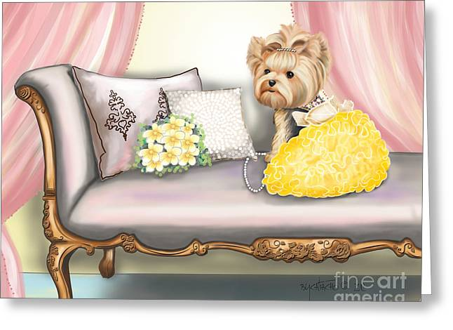 Chaise Mixed Media Greeting Cards - Fairytale  Greeting Card by Catia Cho