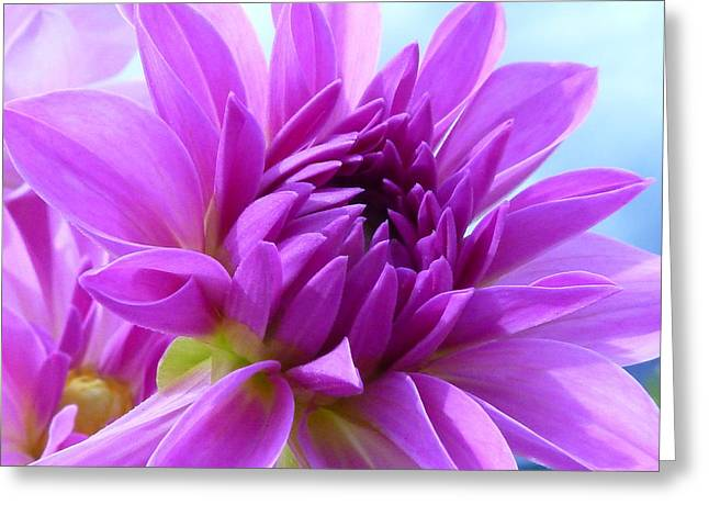 Purple Flowers Greeting Cards - FairyTale Greeting Card by Connie Handscomb