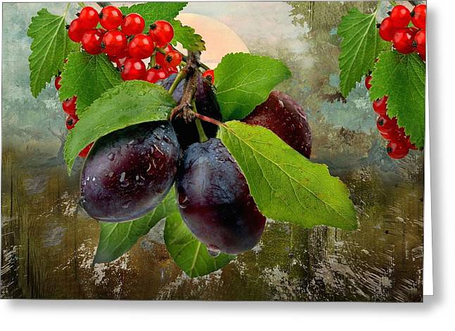 Fruit Tree Art Greeting Cards - Fairytale Forest Greeting Card by Manfred Lutzius