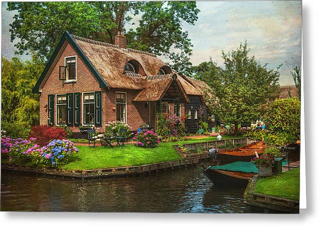 The North Greeting Cards - Fairytale House. Giethoorn. Venice of the North Greeting Card by Jenny Rainbow