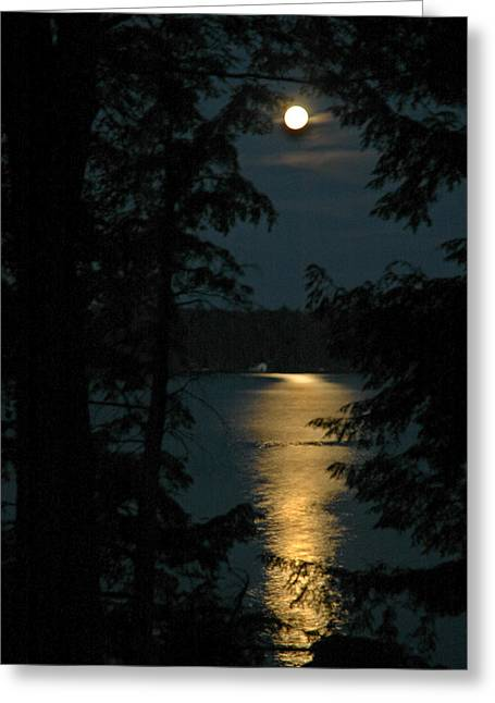 Fairytale Moon Greeting Card by RJ Martens