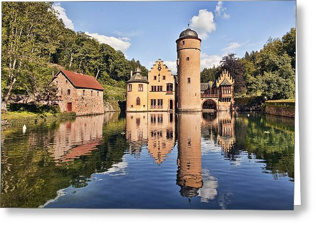 Historic Home Greeting Cards - Fairytale Reflections Greeting Card by Marcia Colelli