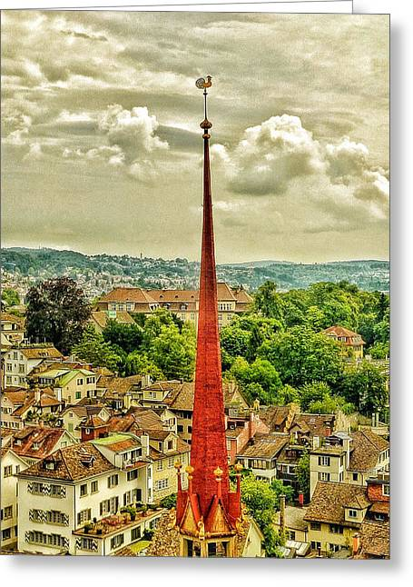 Fairytale Spire Greeting Card by Connie Handscomb