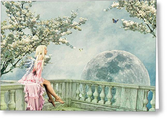 Angel Blues Greeting Cards - Fairytopia in Spring Greeting Card by Sharon Lisa Clarke