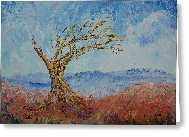 Pallet Knife Greeting Cards - Faith #4 Greeting Card by William Killen