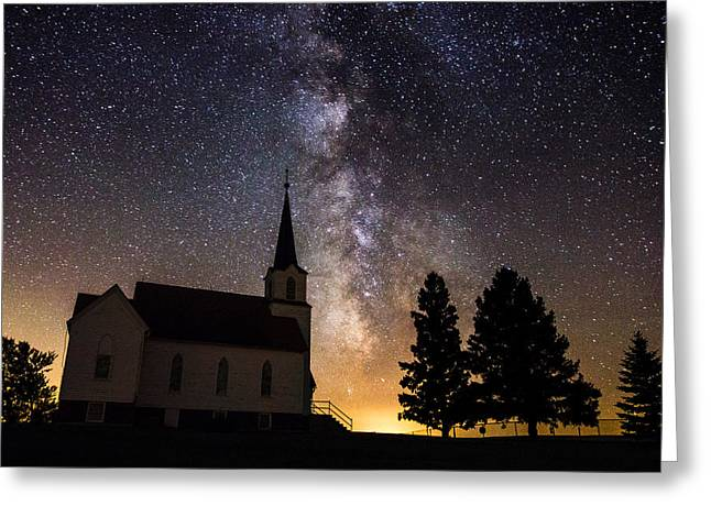 Galactic Greeting Cards - Faith Greeting Card by Aaron J Groen
