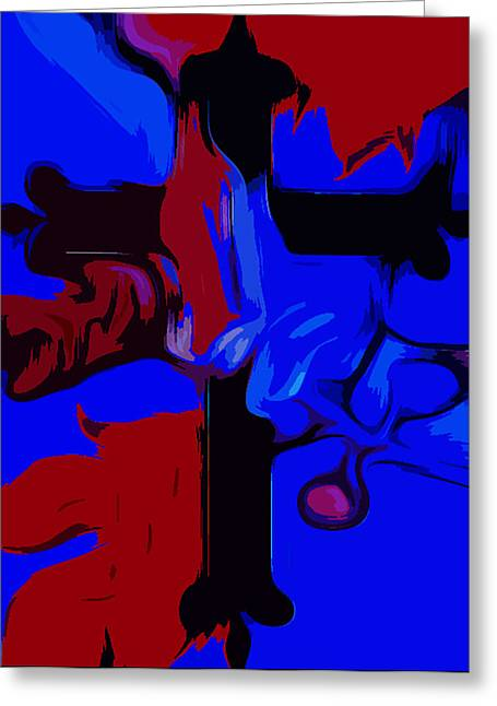 Praying Hands Greeting Cards - Faith Abstract Popart  Greeting Card by Tanya Sorth