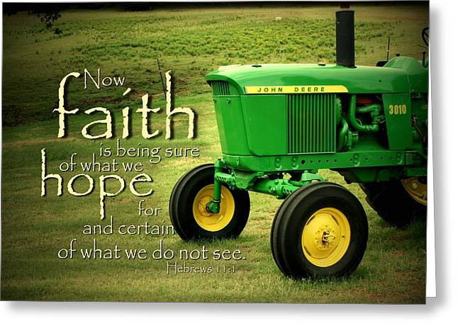 Farming Greeting Cards - Faith and Hope Greeting Card by Linda Fowler