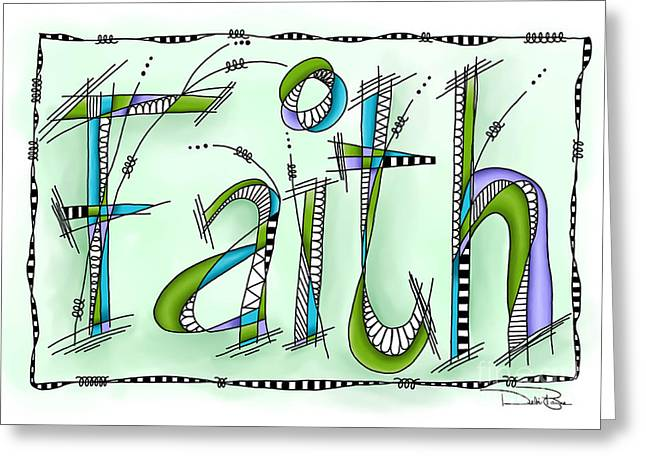 Laws Of Thought Greeting Cards - Faith Greeting Card by Debi Payne