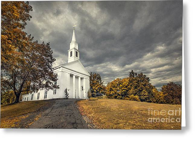 New England Village Photographs Greeting Cards - Faith Embrace Greeting Card by Evelina Kremsdorf