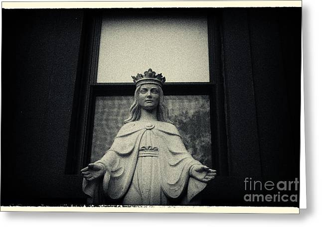 Landmarks Greeting Cards - Faith in Brooklyn New York City Greeting Card by Sabine Jacobs
