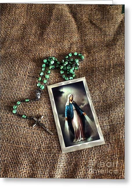 Rosary Greeting Cards - Faith Greeting Card by Jimmy Ostgard