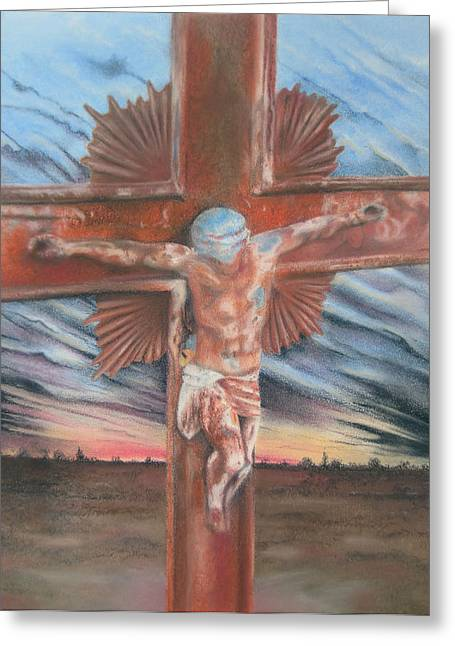 Sacrifice Mixed Media Greeting Cards - Faith Greeting Card by Melanie Spencer