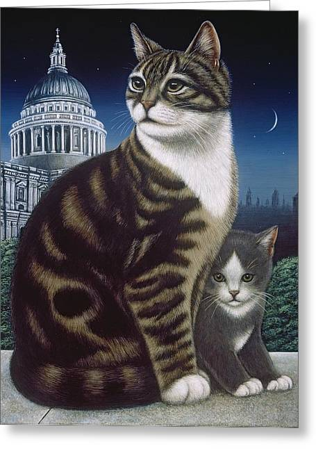 Stray Greeting Cards - Faith, The St. Pauls Cat, 1995 Greeting Card by Frances Broomfield