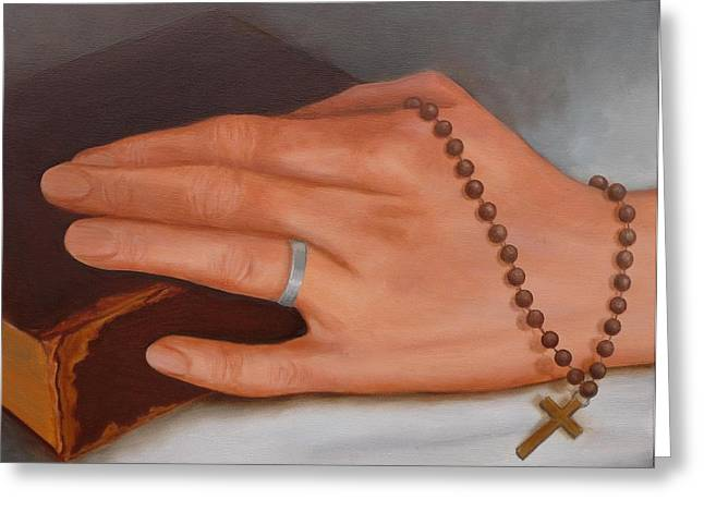Faith Greeting Card by Viktoria K Majestic