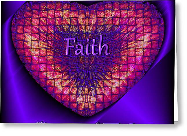 Visual Artist Frank Bonilla Greeting Cards - Faith Greeting Card by Visual Artist  Frank Bonilla