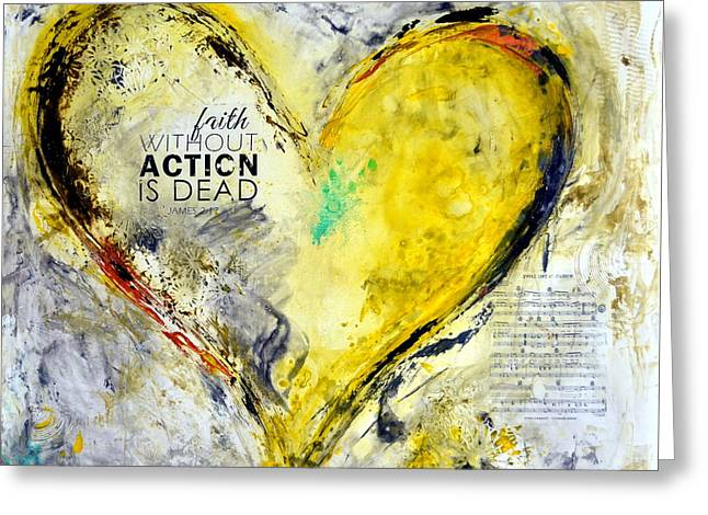 Family Love Greeting Cards - Faith with out Actions is Dead Greeting Card by Ivan Guaderrama