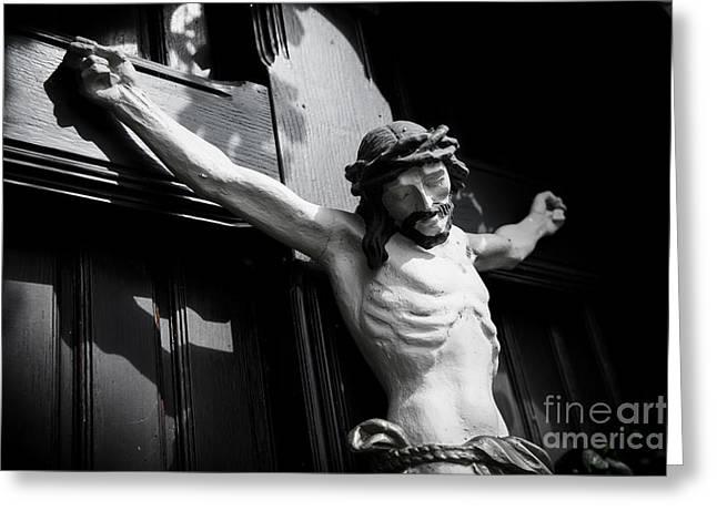 Christus Greeting Cards - Faith2 Greeting Card by Hannes Cmarits