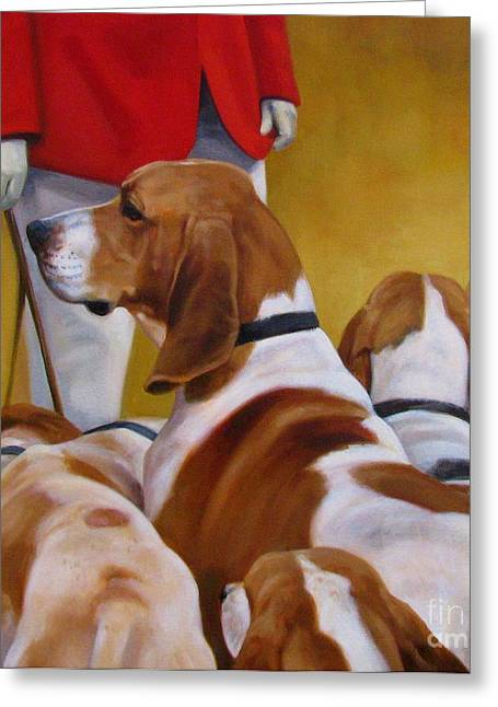 Foxhound Greeting Cards - Faithful Hound Greeting Card by Janet  Crawford