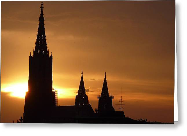 Ulm Greeting Cards - Faithful Sunset Greeting Card by Mountain Dreams