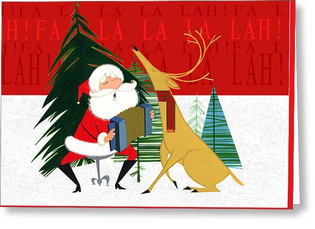 Falalalalah Greeting Card by Michael Humphries